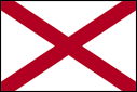 2' x 3' Alabama flag for outdoor use