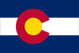 2' x 3' Colorado Flag for outdoor use