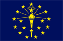 2' x 3' Indiana Flag for outdoor use