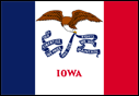 2' x 3' Iowa Flag for outdoor use