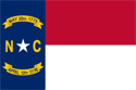 2' x 3' North Carolina flag for outdoor use