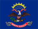 2' x 3' North Dakota flag for outdoor use