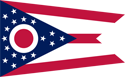 2' x 3' Ohio flag for outdoor use