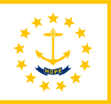 2' x 3' Rhode Island flag for outdoor use
