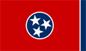 6' x 10' Tennessee flag for outdoor use, nylon