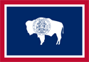 2' x 3' Wyoming flag for outdoor use