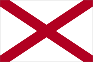 5' x 8' Alabama Flag for outdoor use, nylon