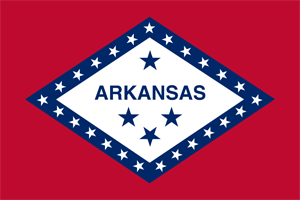 3' x 5' Arkansas Flag for outdoor use, nylon