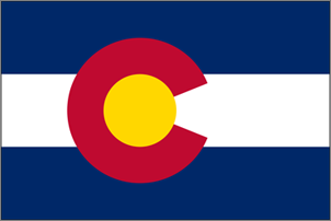 4' x 6' Colorado Flag for outdoor use