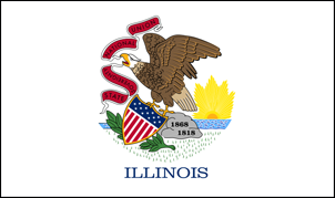 2' x 3' Illinois Flag for outdoor use