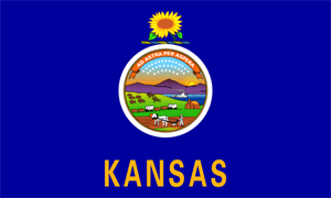 2' x 3' Kansas Flag for outdoor use