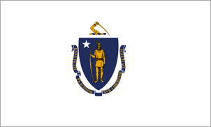 2' x 3' Massachusetts Flag for outdoor use