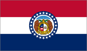 4' x 6' Missouri Flag for outdoor use