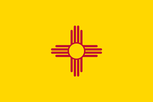 2' x 3' New Mexico flag for outdoor use