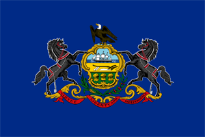 4' x 6' Pennsylvania flag, nylon, for outdoor use