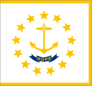 5' x 8' Rhode Island Flag for outdoor use, nylon