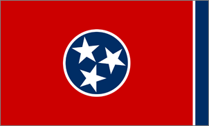 3' x 5' Tennessee Flag for outdoor use, nylon