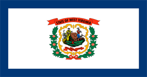 6' x 10' West Virginia flag for outdoor use, nylon