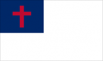 3' x 5' Christian Flag for indoor use, Fringed