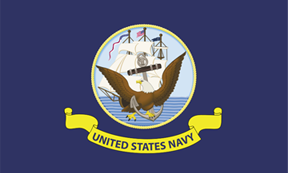 Navy 4x6' Flag, Nylon