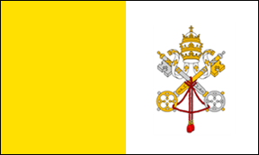 4' x 6' Papal flag for outdoor use, nylon